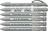 Love Pen by Greeting Pen- Personalized Silver True Love Rotating Message -100 pack- P-WP-03-100