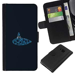 """A-type (Submarino Reloj"""") Colorida Impresión Funda Cuero Monedero Caja Bolsa Cubierta Caja Piel Card Slots Para HTC One M9"""