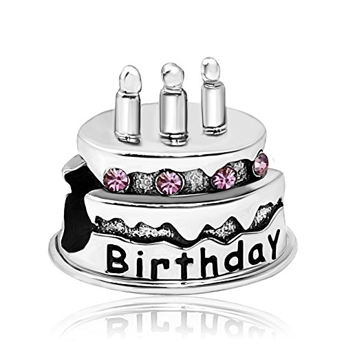 JMQJewelry Family Birthstone Birthday Dad Charms June Birthstone Crystal for Bracelets