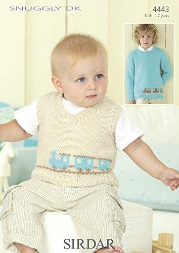 192dc05ab Sirdar Snuggly DK Baby Boys Sweater   Tank Knitting Pattern 4443 ...