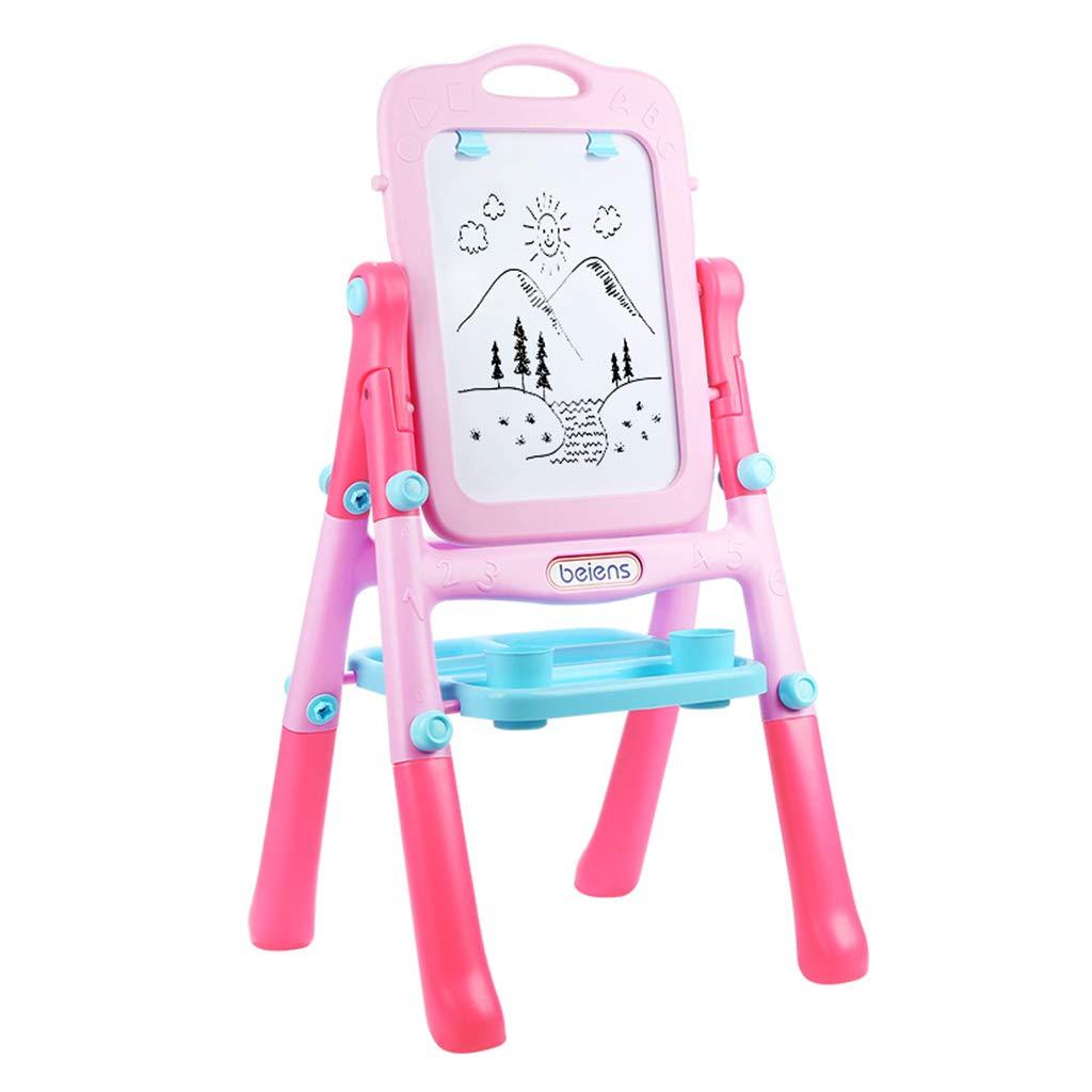 Caballetes para niños, Pizarra magnética de Doble Cara Soporte para el hogar Tipo Pizarra pequeña Herramientas de educación Infantil temprana Lindo para niños