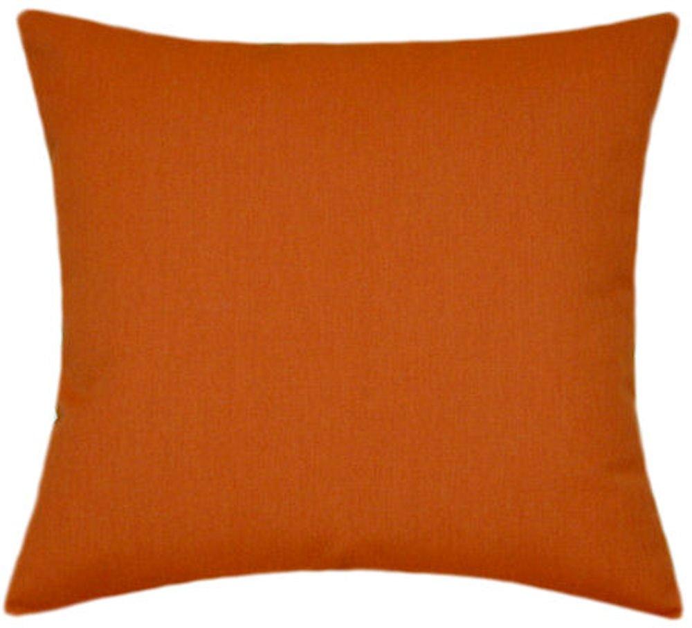 Sunbrella Rust Indoor/Outdoor Solid Patio Pillow 20x20