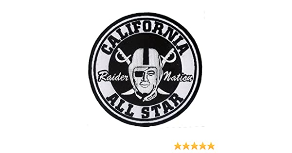 """Wax Backing Large Oakland /""""RAIDERS 4 LIFE/"""" Patch NFL Silver and Black 5/"""""""