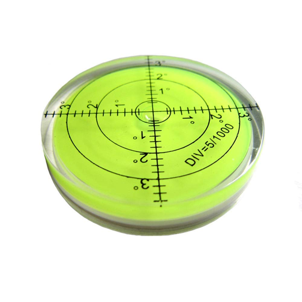 Green 60mm,Accuracy 15//2 umei High Precision Horizontal Bubble Acrylic Case Bullseye Spirit Bubble Surface Level Round Inclinometers for Surveying Instruments and Tribrachs 60x12mm