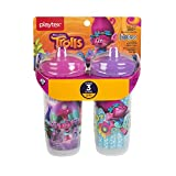 Playtex Baby Sipsters Spill-Proof Trolls Toddler Spout Cup, Stage 3 (12+ Months), Pack of 2
