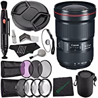 Canon EF 16-35mm f/2.8L III USM Lens + 82mm 3 Piece Filter Set (UV, CPL, FL) + LENS CAP 82MM + SLR Lens Pouch + Lens Pen Cleaner + Microfiber Cleaning Cloth + Lens Cap Keeper Bundle