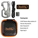 KeyUnity KU00 Titanium Quickdraw Carabiner with