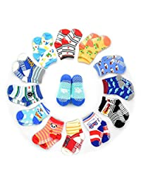 HOVEOX Kids Baby Toddler Socks Non-Skid Crew Walkers Unisex