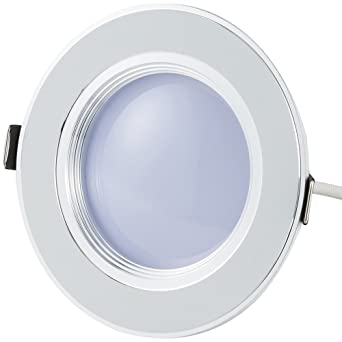 Bloomwin Spot Led Encastrable Dimmable Plafonnier Rond Plat 5w 500lm Blanc Froid 6300 7000k 220v