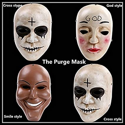 2318 Nueva Resina La Purge Anarchy Dios Diseño De Máscara Película Disfraz Infantil De Adulto Niño Prop Mardi Gras Masquerade Máscara Para Cosp Home Kitchen