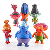 (US) Movie DreamWorks Trolls Action Figures Toys Set of 6,Mini Princess Dolls Poppy Playsets 4 inch Tall