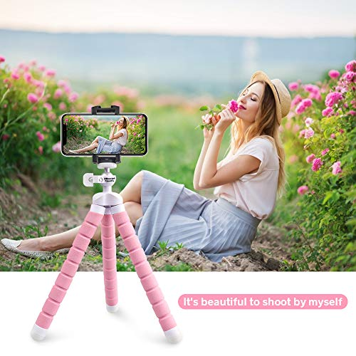 Phone Tripod UBeesize Portable and Adjustable Camera Stand Holder with Wireless Remote and Universal