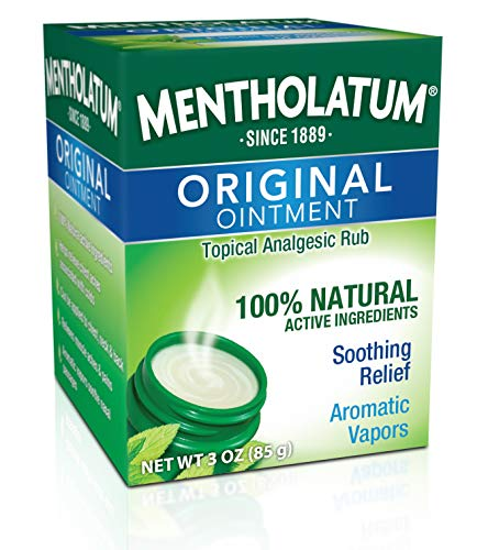 Mentholatum Original Ointment Soothing Relief, Aromatic Vapors - 1 oz (Pack of 2) from Mentholatum