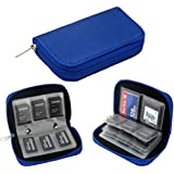 LEPIN Memory Card Carrying Case 4.3x2.5x0.7inch Blue