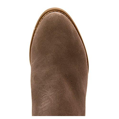 Vionic Cowboy suede Faros Greige Women's Boots ZZwp8zqx1