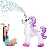 Inflatable Unicorn Yard Sprinkler, Portable Lawn Sprinkler for Children Toddlers, Boys, Girls Outdoor