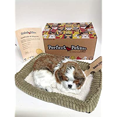 Perfect Petzzz Huggable Breathing Puppy Dog Pet Bed Shih Tzu: Toys & Games