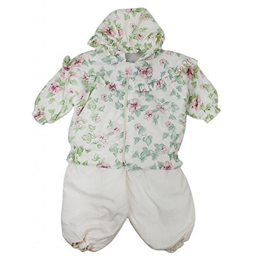 Girls Baby Floral Snow Suit Padded Jacket & Trousers Winter Set Sizes from 12 to 23 Months