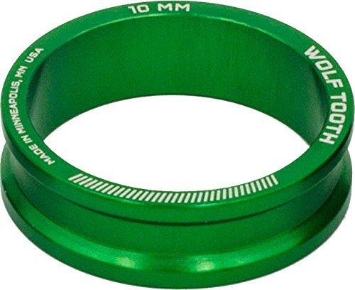Wolf Tooth Componentsヘッドセットスペーサー5パック、10 mm、グリーン [並行輸入品] B078S4NTXK