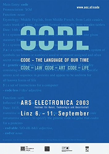 Download Ars Electronica 2003: Code:The Language of our Time ebook