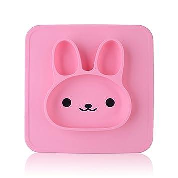 yII Lovely conejo estilo silicona bebé Mantel individual con ...