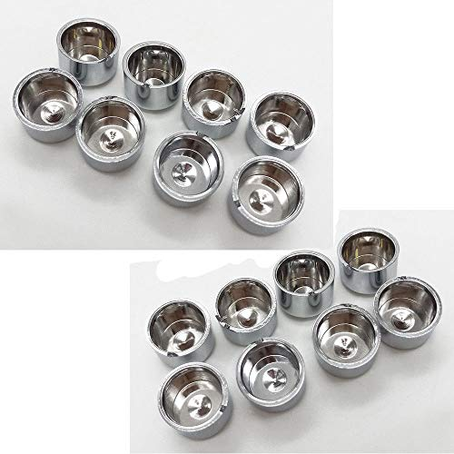BBUT 16 Pcs Chrome Cap Dress Kit Fit 1999-2006 Harley Softail&Dyna Push Rod Tappet Block 2000 2001 2002 2003 2004 2005