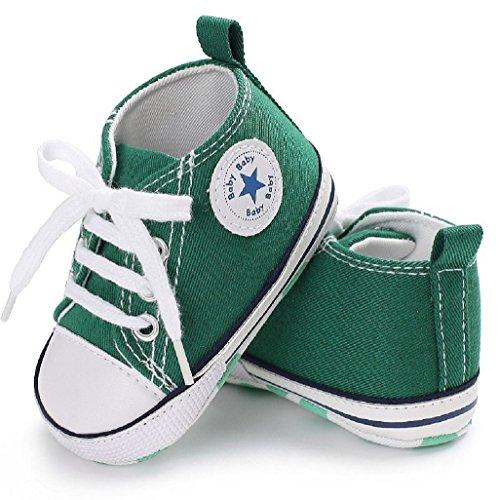 De Deporte 3 Antislip La 12 Auxma Suave Zapatos Suela Lona 6 18 Del Bebé Calza Para Zapatilla 12 Verde 6 Mes x7OnqCwt1