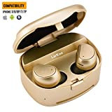 LarKoo Wireless Earbuds Bluetooth Headphones with Mic Sweatproof Gold Deal (Small Image)