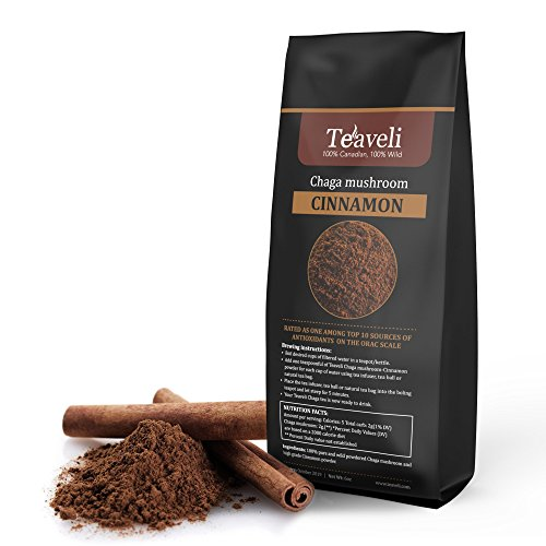 6oz- Cinnamon-Chaga Mushroom Blend- A Powerful Duo That Helps Support Healthy Heart Healthy Blood Sugar Levels, Loaded with Antioxidants Helps Support Immune Health and Digestion