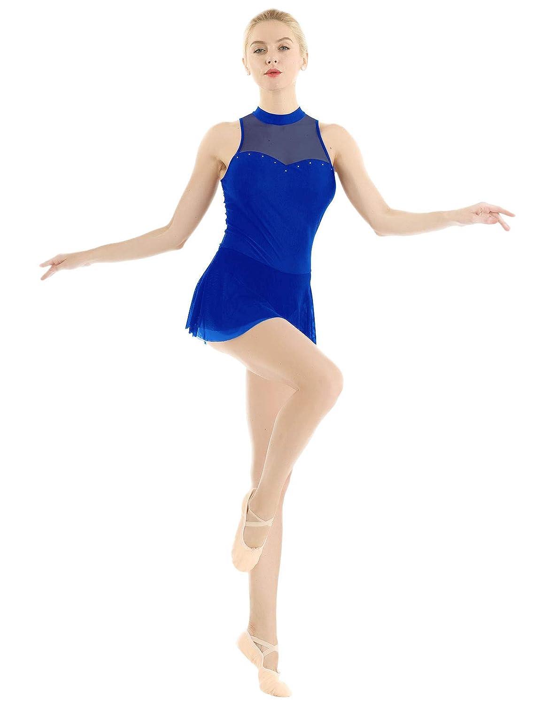 YiZYiF Vestido Baile Gimnasia Sexy Maillot para Mujer ...