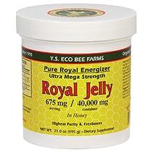 YS Organic Bee Farms - Pure Royal Energizer: Royal Jelly In Honey 675 mg. - 21 oz.