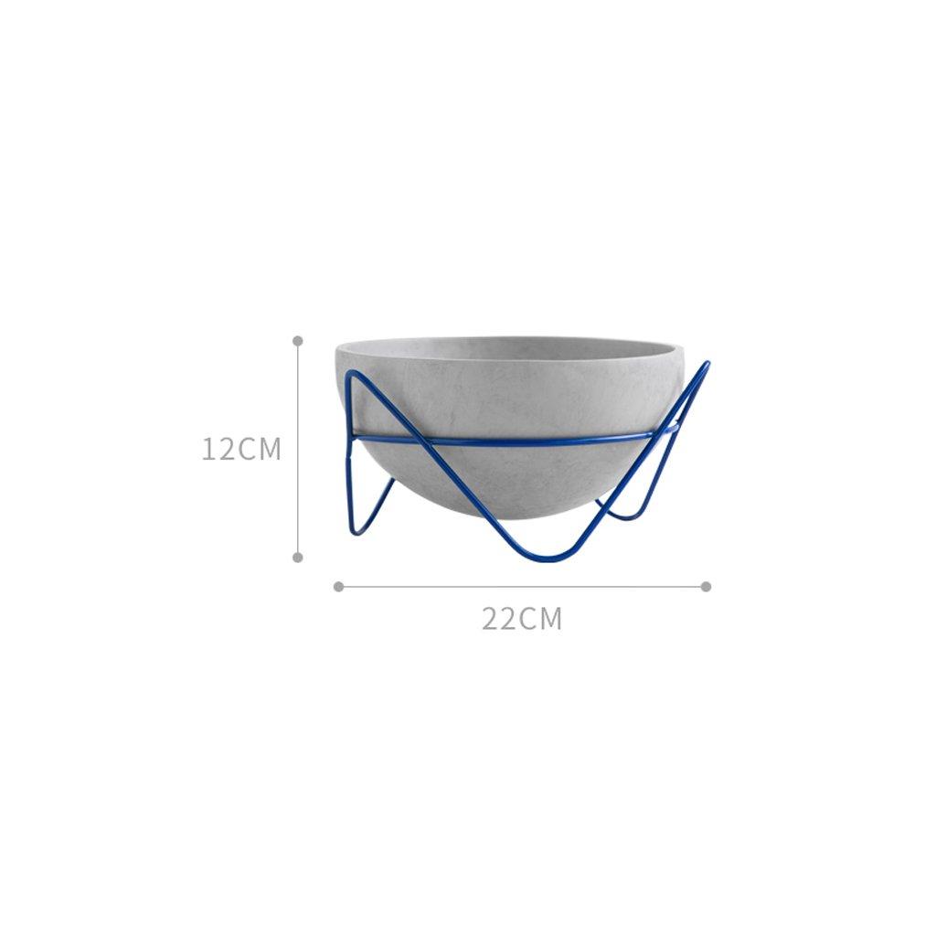LYQZ Esposizione di Fiori da tavolino da Fiori Moderna dello scaffale del Vaso da Fiori Diritto (colore   Blu)
