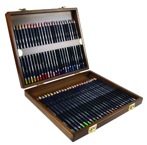 Derwent Studio Pencils, 3.4mm Core, Wooden Box, 48 Count (0700822) by Derwent