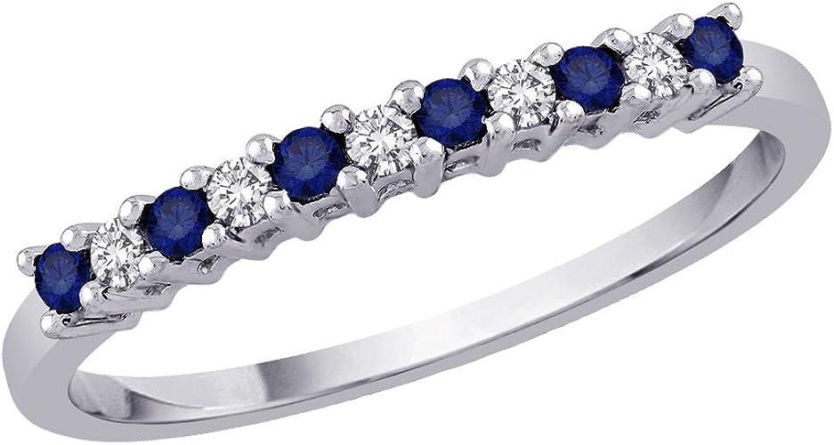 Diamond Wedding Band in 10K White Gold Size-7.25 G-H,I2-I3 1//20 cttw,
