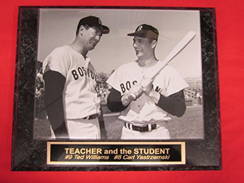 J & C Baseball Clubhouse Ted Williams Carl Yastrzemski Red Sox Collector Plaque #2 w/8x10 - Williams Ted Figurine