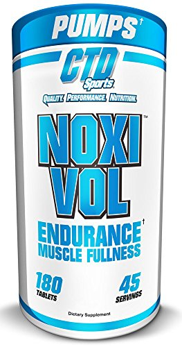 CTD Sports Noxivol Tablets 180ct, Best Nitric Oxide Booster, Muscle Volumizer.