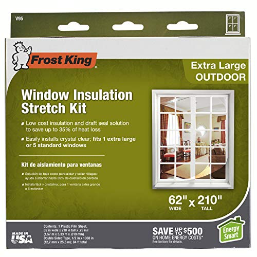 Frost King V95H, 62-Inch by 210-Inch, Clear