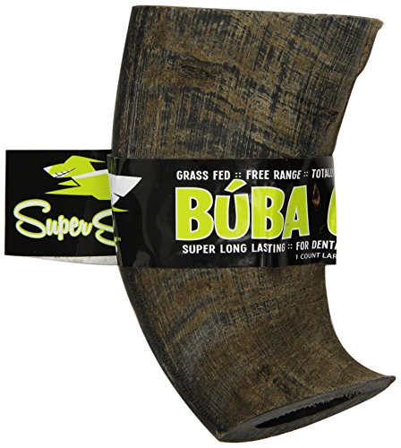 Super Snouts BUBA CHEW Natural Water Buffalo Horn - Large