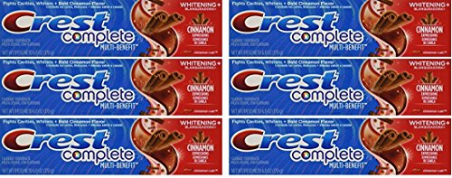 Crest Whitening Expressions Fluoride Anticavity Toothpaste, Cinnamon Rush, 6 oz (6 Pack)
