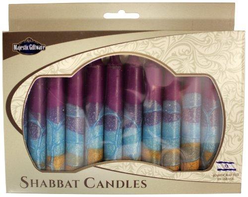 Majestic Giftware SC-SHHR-V Safed Shabbat Candle, 5-Inch, Harmony Violet, 12-Pack (12 Candles Safed Shabbat)