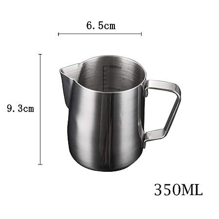 Jarra de acero inoxidable para espuma de leche taza de leche Barista 350 ml