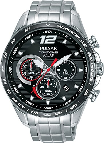 Amazon.com: Pulsar PZ5019X1 Mens Solar Accelerator Chronograph Wristwatch: Watches