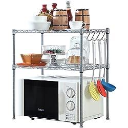 2 Tier Adjustable Microwave Shelf