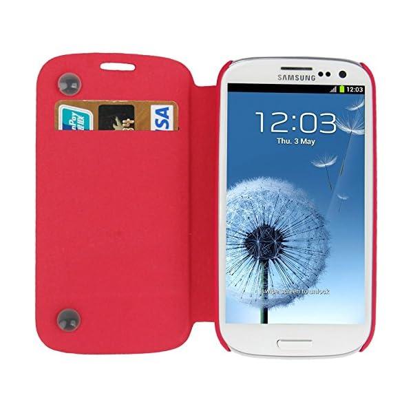 Fundas y estuches para teléfonos móviles, Dibujo de estampado del cuero del tirón con ranura para tarjeta de crédito / soporte / ventosa para el Samsung Galaxy S III / i9300 2