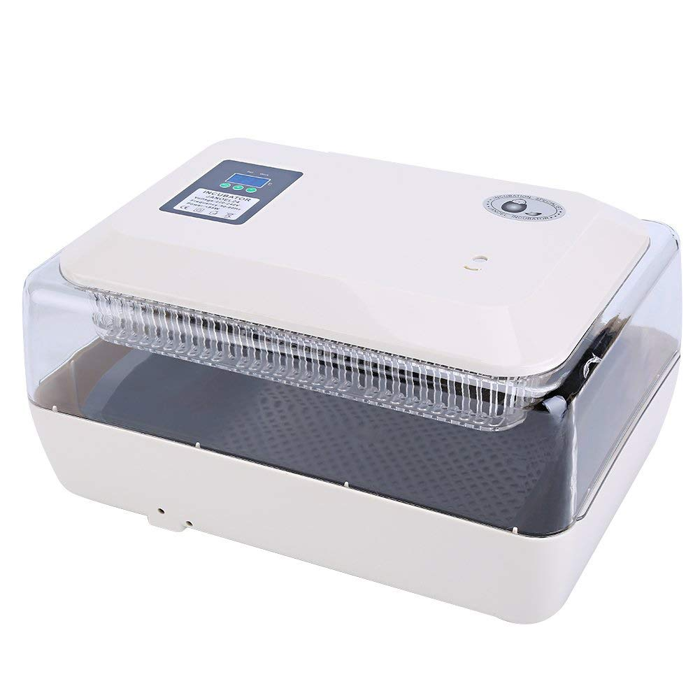 ZFF Mini Fully Automatic Turning Incubators, Chicken Goose Duck Poultry Hatcher Temperature Control & with Egg Tray,24 Eggs