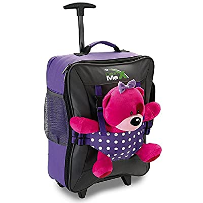 Cabin Max Bear Childrens Luggage Carry On Trolley Suitcase - Purple Spotty - - luggage