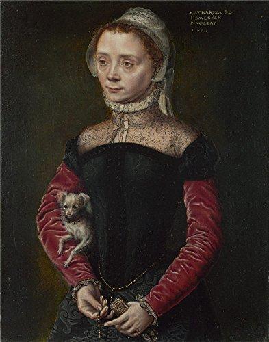 Oil Painting 'Catharina Van Hemessen Portrait Of A Lady ' Pr