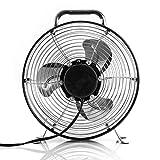 Vie Air High Velocity Powerful and Quiet Dual Speed Sleek Design Durable Metal Drum Fan, 12'' W