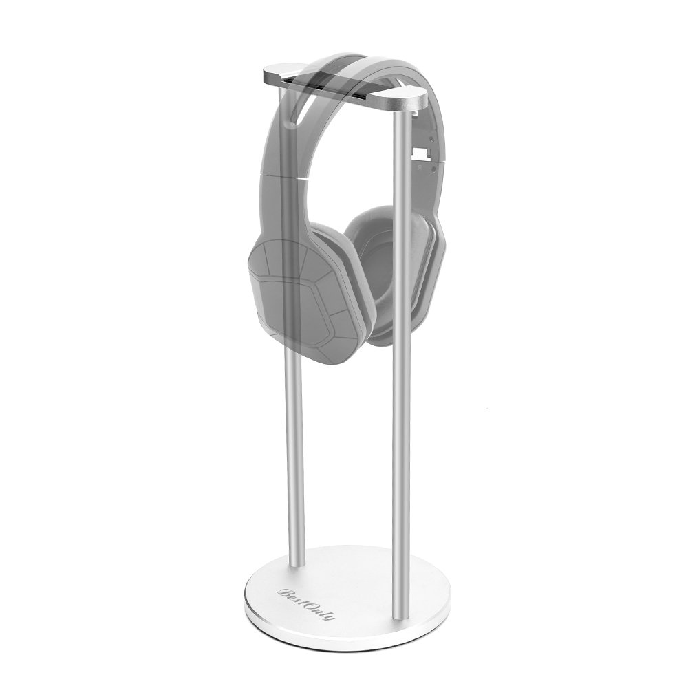 Headphone Stand BestOnly Headset Holder Universal Solid Steel Earphone Stand with Supporting Bar for All Headphones Size, Gold 10790399