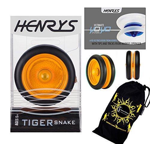 Henrys Tiger Snake YoYo (Naranja) - Carrito Profesional de Buceo (2 A) con Sistema AXYS + folleto de Instrucciones de Trucos...
